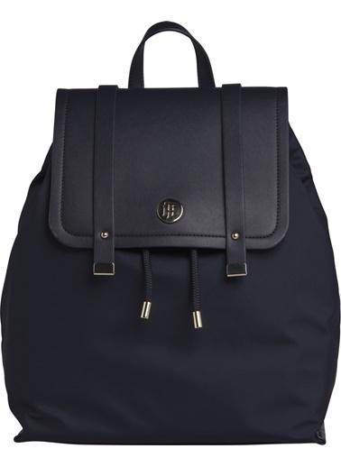 Tommy Hilfiger Kadın Th Elegant Backpack Sırt Çantası AW0AW07300 Lacivert